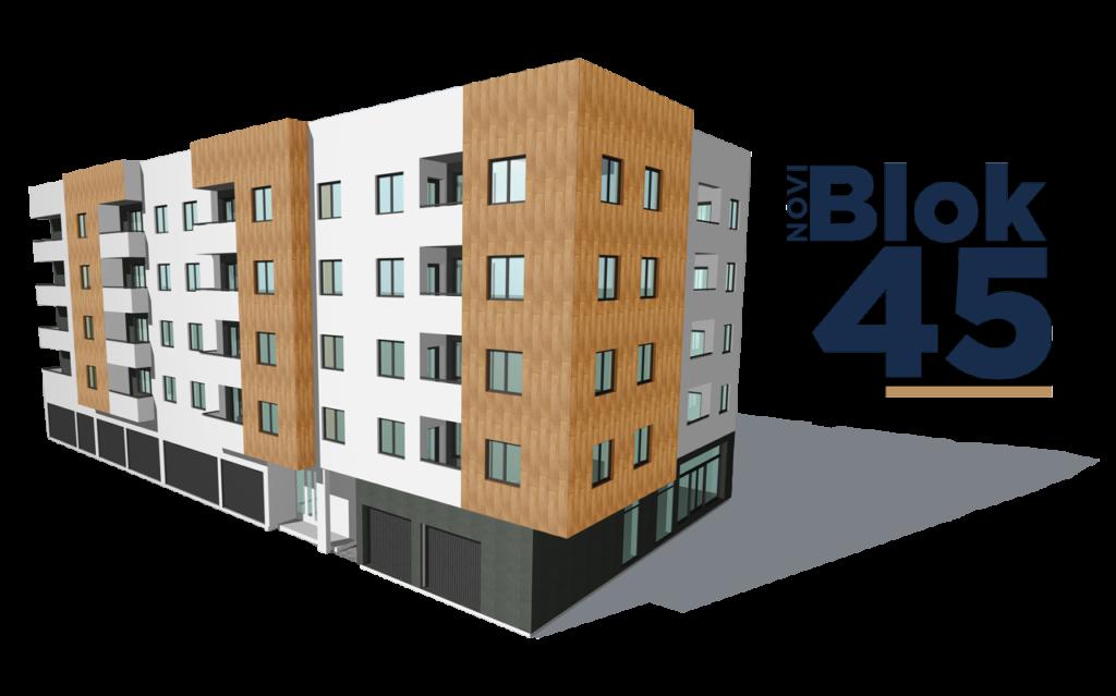 Novi Blok45 prikaz i logo